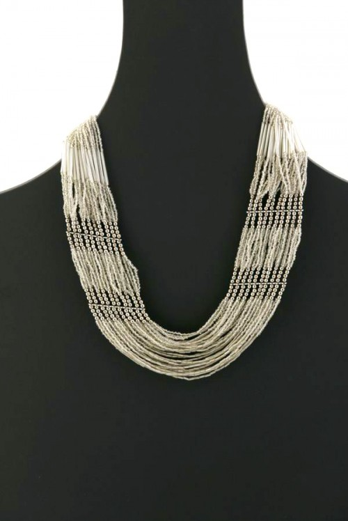 Metallic Bead Necklace
