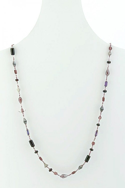Single Strand Glass Bead Necklace