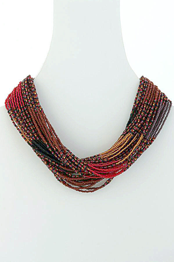 colorful layered stylezog com necklace shop beaded necklaces