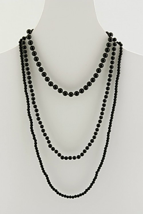 glass bead necklace n-365