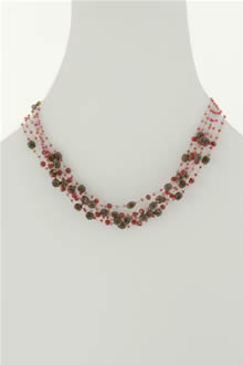 teardrop bead necklace