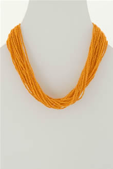 orange seed bead necklace