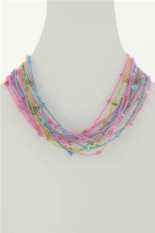 Glass Bead Necklace (N-308)