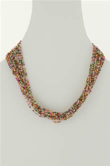 rainbow glass bead necklace