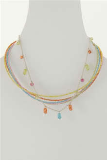 multi color glass bead necklace