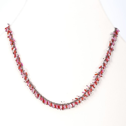 Bugle Bead Necklace (N-337)