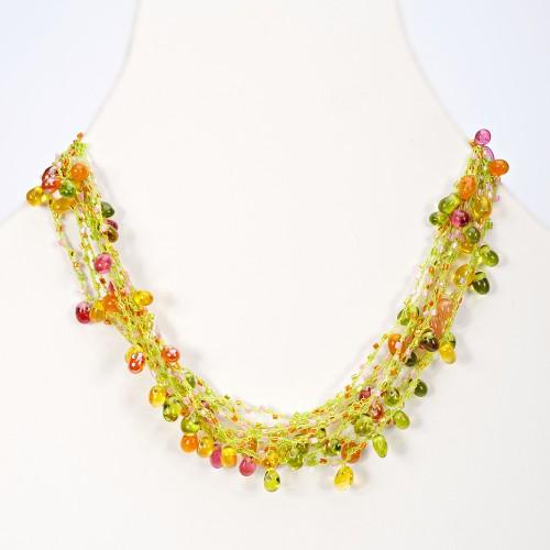 Teardrop Glass Bead Necklace