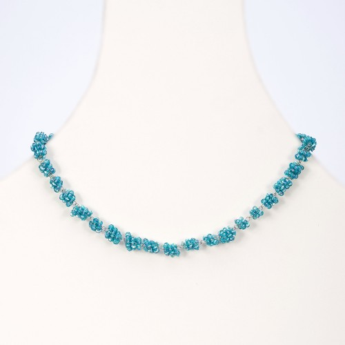 glass bead choker necklace